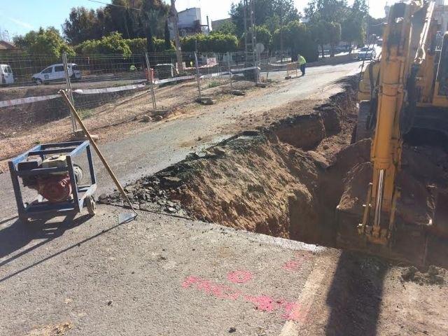 Se inician las obras de reparación para garantizar la seguridad en la carretera de La Huerta de Totana, Foto 1
