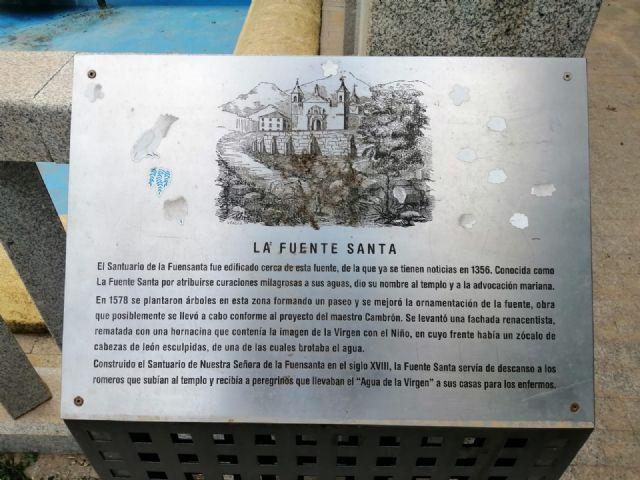 Denuncia el estado en el que se encuentra la fuente del Santuario de la Virgen de la Fuensanta - 4, Foto 4