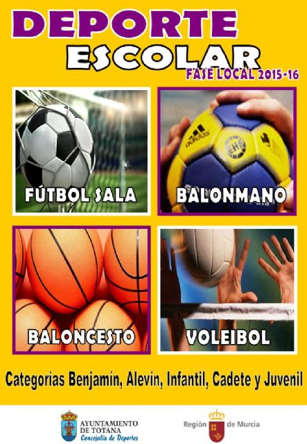 La Concejalía de Deportes llevará a cabo la entrega de trofeos de la Fase Local de Deportes de Equipo de Deporte Escolar, Foto 1