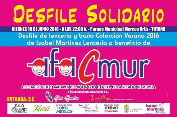 El parque municipal Marcos Ortiz acoge el próximo 10 de junio el desfile solidario de lencería y baño a beneficio de Afacmur, Foto 2