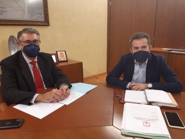 El Presidente de la CHS ha mantenido una reunión de trabajo con el alcalde de Lorquí - 1, Foto 1