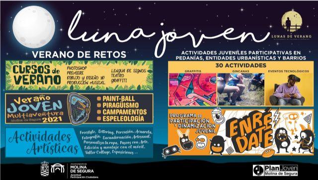 La Concejalía de Juventud de Molina de Segura presenta su programa de verano LUNA JOVEN 2021 - 1, Foto 1