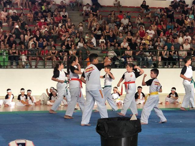El Club Taekwondo Totana clausura temporada con una exhibici�n de sus m�s de 80 alumnos en el Pabell�n de Deportes Manolo Ib�ñez, Foto 2