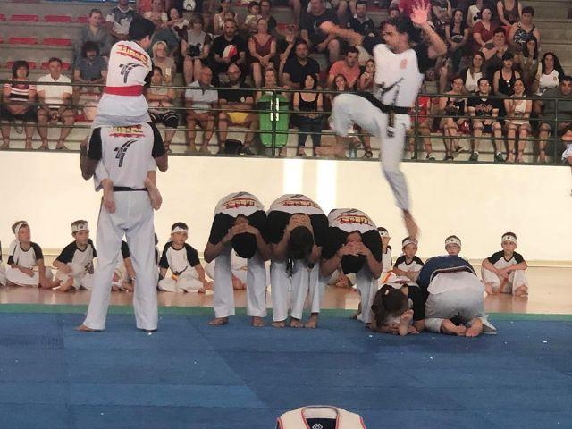 El Club Taekwondo Totana clausura temporada con una exhibici�n de sus m�s de 80 alumnos en el Pabell�n de Deportes Manolo Ib�ñez, Foto 4