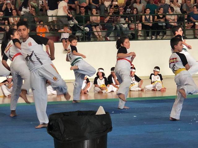 El Club Taekwondo Totana clausura temporada con una exhibici�n de sus m�s de 80 alumnos en el Pabell�n de Deportes Manolo Ib�ñez, Foto 5