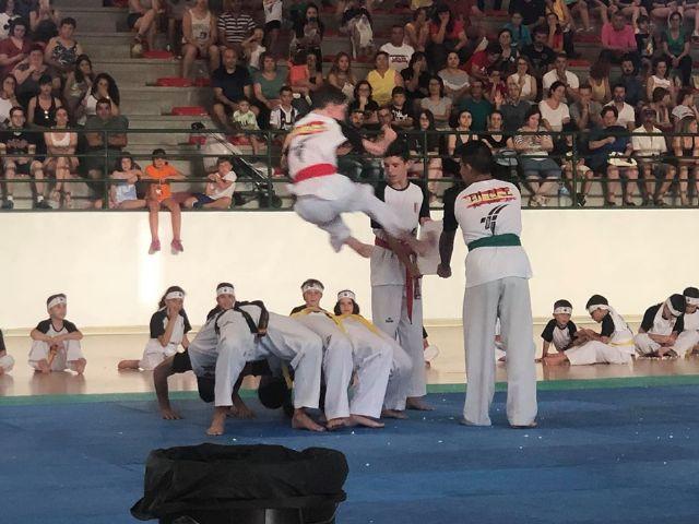El Club Taekwondo Totana clausura temporada con una exhibici�n de sus m�s de 80 alumnos en el Pabell�n de Deportes Manolo Ib�ñez, Foto 9
