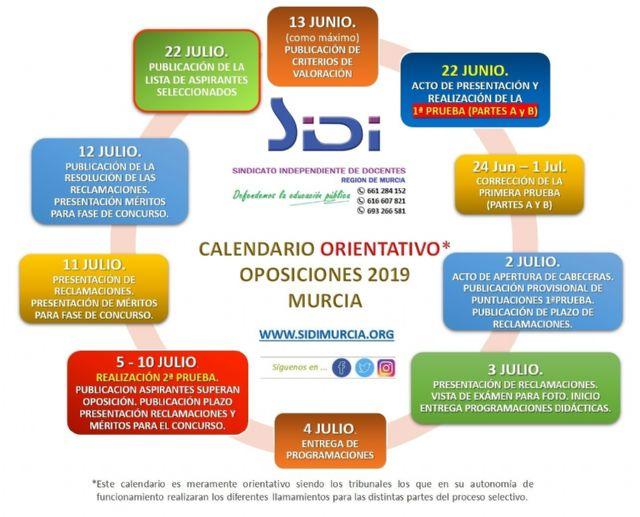 Calendario 2019 Murcia.Sidi Denuncia Las Condiciones De Trabajo En Las Que Se Estan
