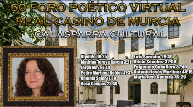 Teresa García, alcaldesa de Calasparra, madrina del 60 Foro Poético Real Casino de Murcia - 1, Foto 1
