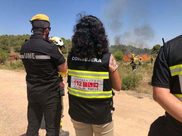 El Gobierno regional coordina con la UME un ejercicio de lucha contra los incendios forestales