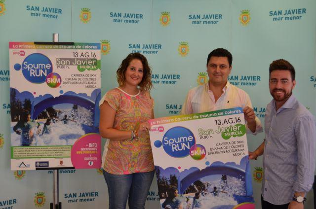 Santiago de la Ribera acogerá el 13 de agosto próximo  la primera carrera de espuma de colores Spume Runque se celebra en España - 1, Foto 1