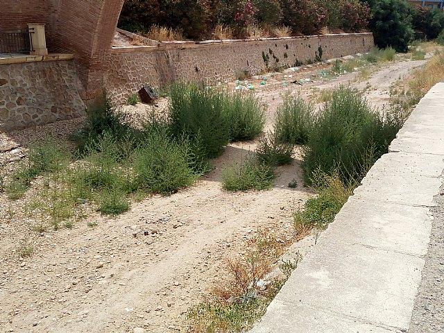 El PP denuncia el estado de suciedad en el que se encuentra la zona de Las Ollerías y la Rambla de La Santa a su paso por el lugar, Foto 1