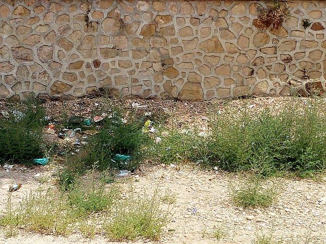 El PP denuncia el estado de suciedad en el que se encuentra la zona de Las Ollerías y la Rambla de La Santa a su paso por el lugar, Foto 3