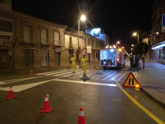 Repintado de marcas viales en varias calles del municipio, Foto 1