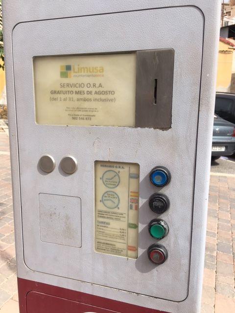 El Ayuntamiento de Lorca recuerda que, a partir de hoy, 1 de agosto, no hay que pagar por aparcar en la zona azul de la ORA - 2, Foto 2