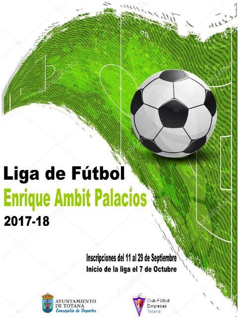 El plazo de inscripción para la Liga de Fútbol Enrique Ambit Palacios será del 11 al 29 de este mes de septiembre, Foto 1