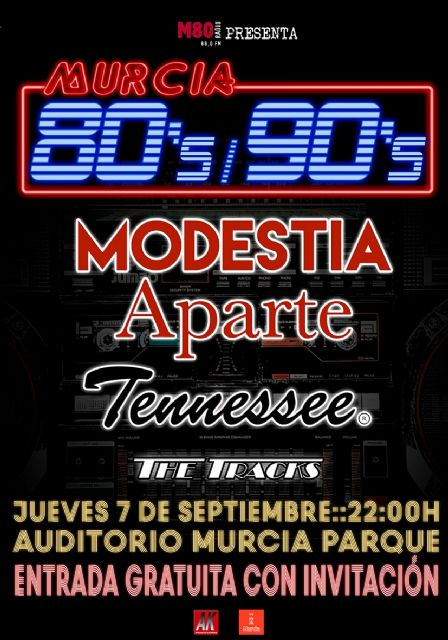 La música de las décadas prodigiosas llega a Murcia Parque con M80 Radio, Foto 1