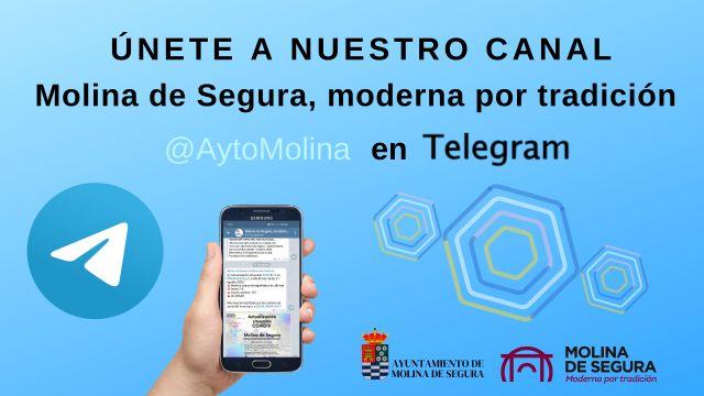 El Ayuntamiento de Molina de Segura se incorpora a la plataforma de mensajería Telegram con el objetivo de mejorar la información a la ciudadanía - 1, Foto 1