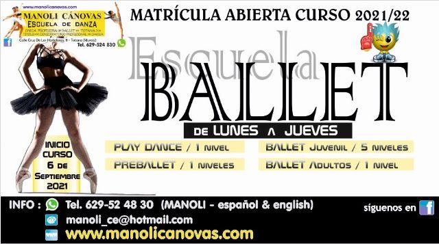 [La Escuela de Danza Manoli Cánovas inicia el curso 2021-22