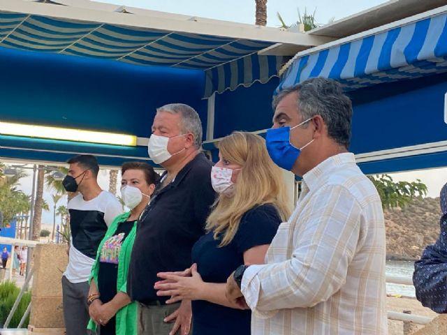 El PP se reúne con los vecinos del Puerto de Mazarrón afectados por la Ley de Costas, Foto 2