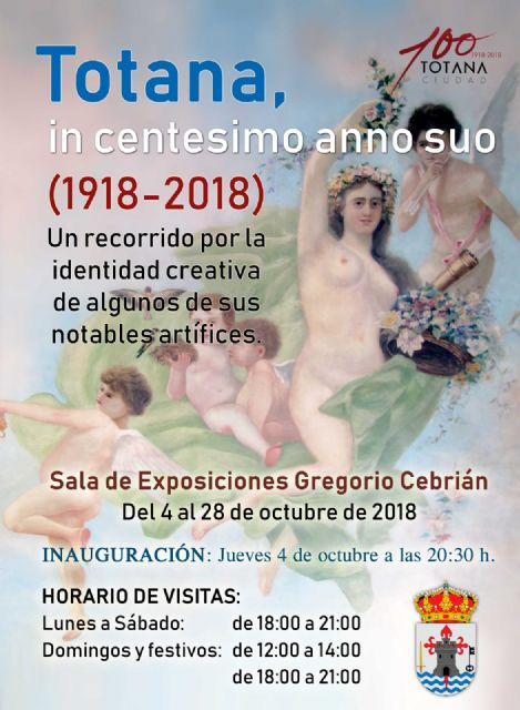 "The exhibition ""Totana, in centesimo anno suo"", commemorative show for the Centennial of the City, opens this Thursday"