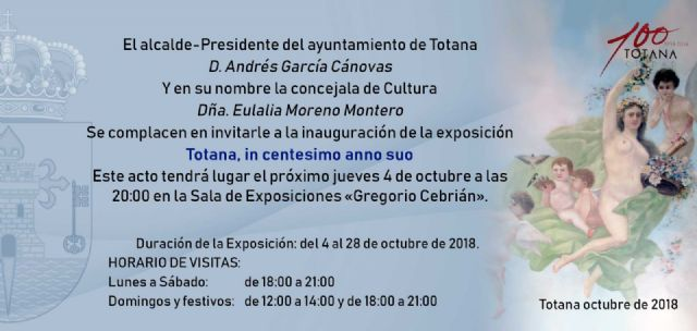 "The exhibition ""Totana, in centesimo anno suo"", commemorative show for the Centennial of the City, opens this Thursday, Foto 2"