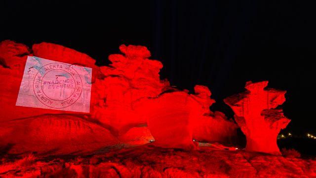 Las erosiones de Bolnuevo se iluminan en rojo por la defensa del sector de los eventos y el espectáculo - 1, Foto 1