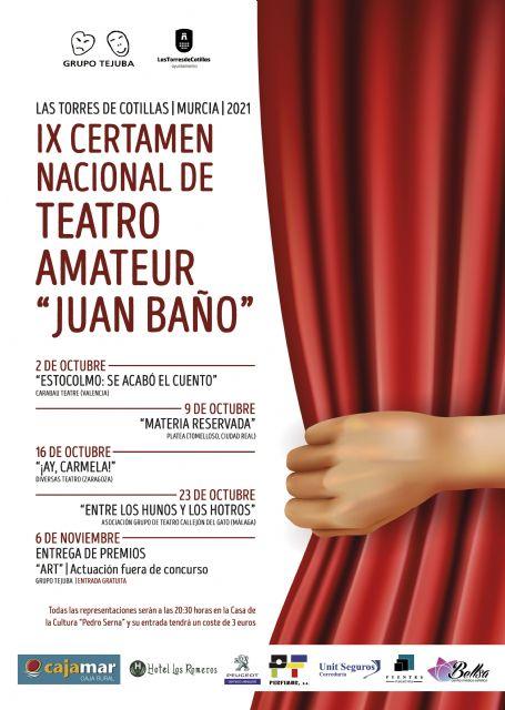 Arranca el IX certamen de teatro amateur Juan Baño de Las Torres de Cotillas con cuatro obras a concurso - 1, Foto 1