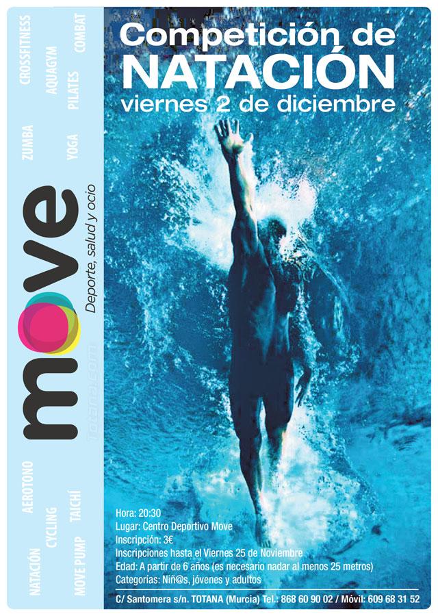Mañana viernes 2 de diciembre tendrá lugar una Competición de Natación en MOVE, Foto 1