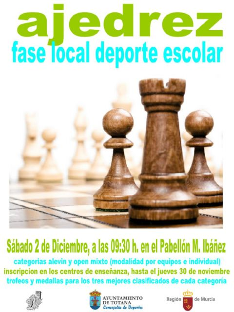 "Tomorrow will take place the Local Chess Phase of School Sports, in the Sports Pavilion ""Manolo Ibáñez"" - 1"