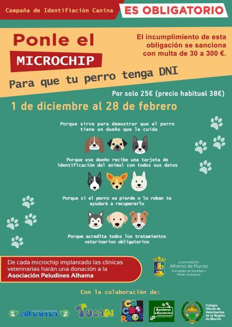 Ponle el microchip a tu perro, es obligatorio. Campaña de 1 de diciembre al 28 de febrero, Foto 1