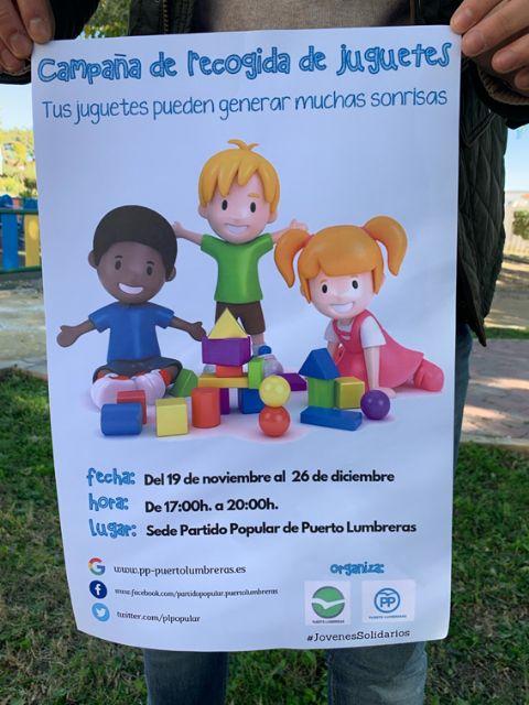 Nuevas Generaciones de Puerto Lumbreras impulsa una campaña solidaria de recogida de juguetes - 2, Foto 2