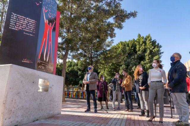 Cartagena homenajea y visibiliza a las personas con VIH con un monumento - 1, Foto 1