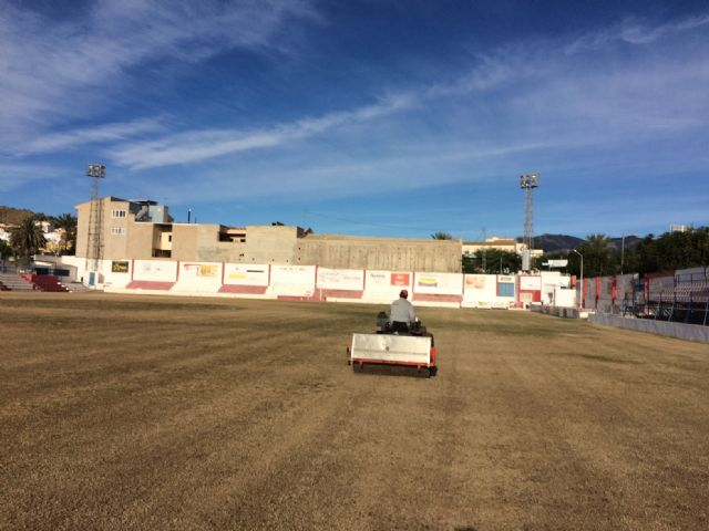"""They reseed the soccer field of the municipal stadium """"Juan Cayuela"""" to guarantee its conservation and maintenance until the end of the season - 3"""