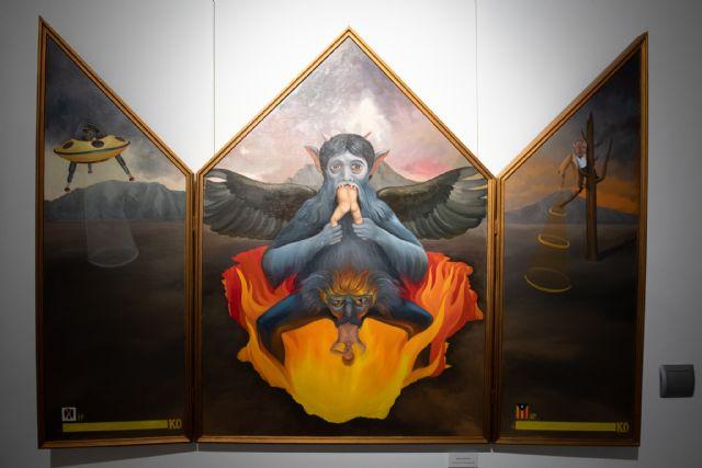 Martínez Cánovas ofrece una visita guiada a su exposición de Casas Consistoriales, Foto 3