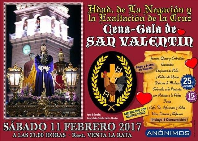 La Hermandad de la Negación organiza una Cena-gala de San Valentin, que tendrá lugar el próximo 11 de febrero, Foto 1