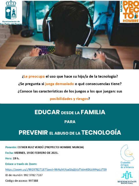 Bienestar Social organiza el taller Educar desde la familia para prevenir el abuso de la tecnología - 1, Foto 1