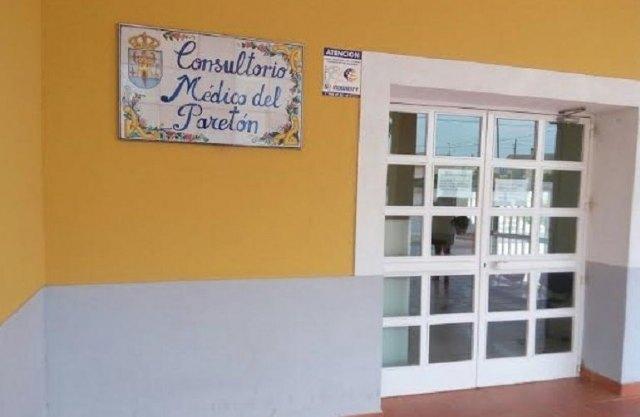 [El Ayuntamiento pide a la Consejería de Salud y a la Gerencia del Área III que asigne un médico permanente en el Consultorio Médico de la pedanía de El Paretón-Cantareros, entre otras prestaciones