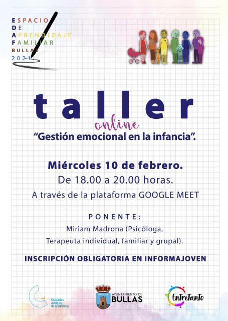 Taller online 'Gestión emocional en la infancia' - 1, Foto 1