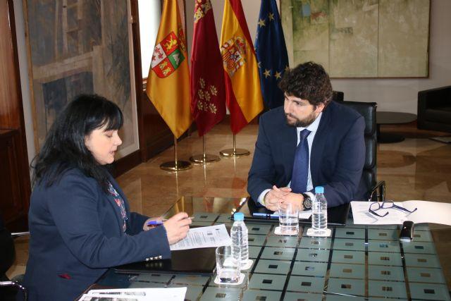 Fernando López Miras se reúne con la alcaldesa de Librilla - 1, Foto 1