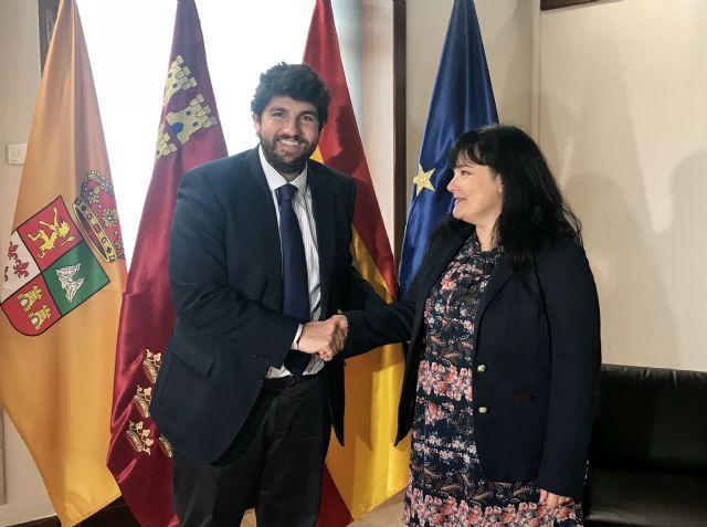 Fernando López Miras se reúne con la alcaldesa de Librilla - 2, Foto 2
