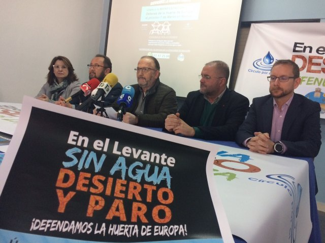 The Community of Irrigators and municipal authorities of Totana urge citizens to mobilize to participate in the demonstration on March 7 in Madrid due to the drought