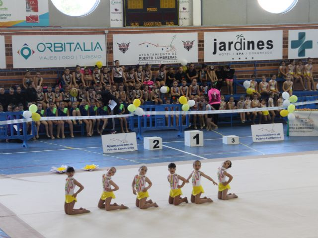 Más de 450 participantes en la exhibición de gimnasia rítmica celebrada en el Centro Deportivo Municipal de Puerto Lumbreras - 1, Foto 1