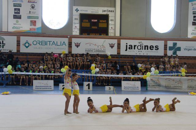 Más de 450 participantes en la exhibición de gimnasia rítmica celebrada en el Centro Deportivo Municipal de Puerto Lumbreras - 2, Foto 2
