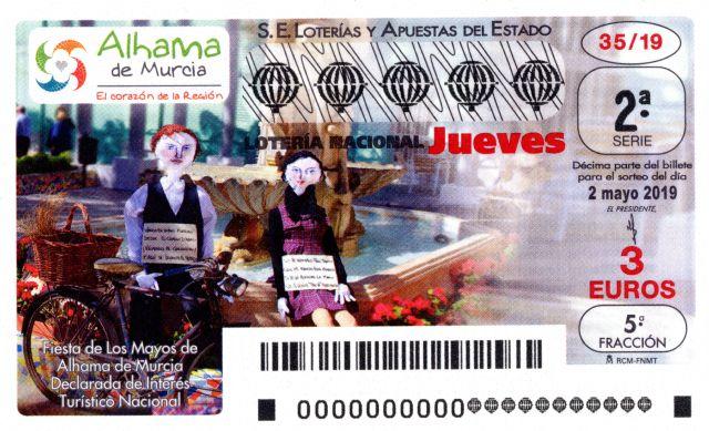 La fiesta de Los Mayos de Alhama, protagonista del décimo de Lotería Nacional, Foto 1