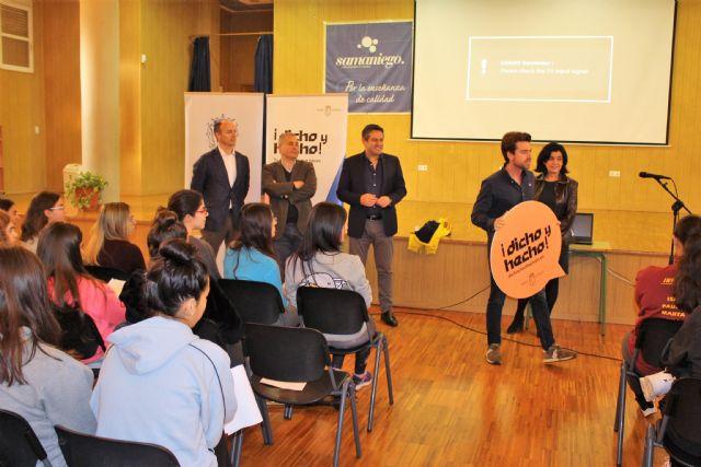 Los jóvenes de Alcantarilla conocen el Certamen Región de Murcia Joven 2.0 y el Programa Dicho y Hecho - 1, Foto 1