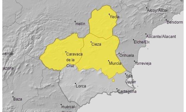 Alerta amarilla por tormentas este jueves en la Comarca de Cieza - 1, Foto 1