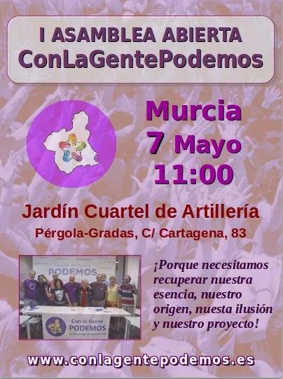 La candidatura ConLaGentePodemos celebra este domingo 7 de Mayo su Asamblea Constituyente - 1, Foto 1
