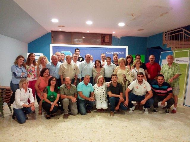 Pedro Antonio Sánchez, presidente del PP regional, se reúne con la directiva del PP totanero, Foto 1