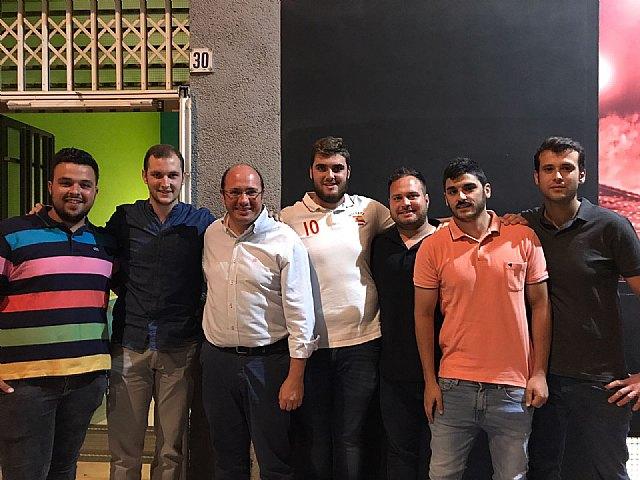 Pedro Antonio Sánchez, presidente del PP regional, se reúne con la directiva del PP totanero, Foto 2