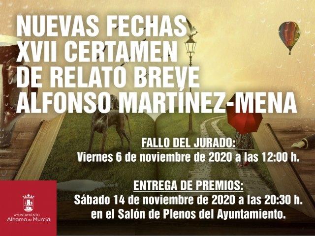Nuevas fechas XVII certamen de relato breve Alfonso Martínez-Mena - 1, Foto 1